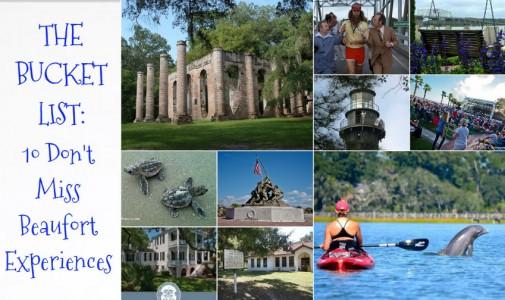 Bucket List: 10 Don't Miss Beaufort Experiences