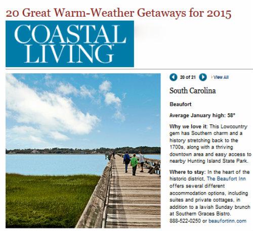 Coastal Living lists Beaufort in 'Top 20 Great Warm ... - photo#32