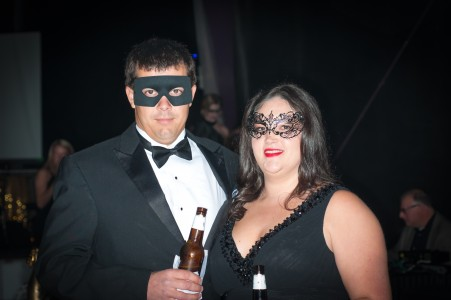 A starry night at the New Year's Eve Masquerade Ball at The Shed in Port Royal