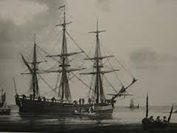 The British ship, Vigilant.