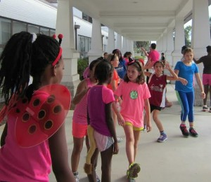 Port Royal Elementary Girls Run Club ready to fly at the Superhero 5k on Saturday