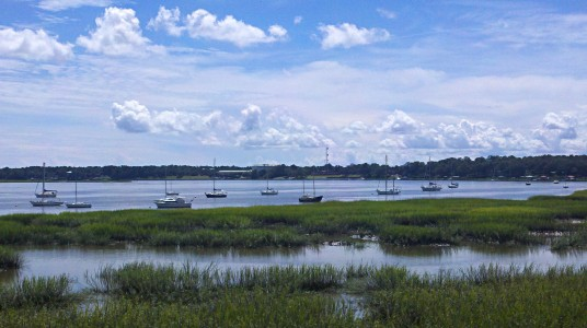A breathtaking view from the bluff along Bay Street in downtown Beaufort.