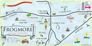 Map of Frogmore courtesy Elizabeth Bishop Later