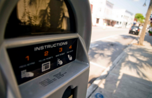 City task force conducting survey on downtown parking issues.  Photo courtesy Ken Hawkins