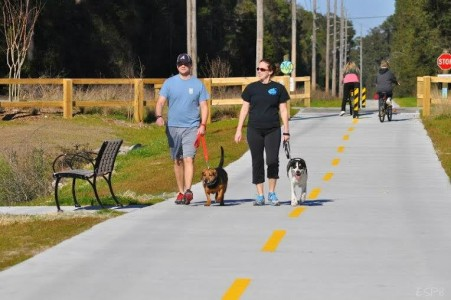 The Spanish Moss Trail encourages healthy lifestyles by providing a paved, dedicated pedestrian and bike trail that connects neighborhoods, parks and businesses.