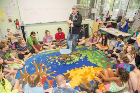 Filmmakers VW Scheich and Uyen Le lent their time to teach filmmaking to the kids at Lowcountry Montessori School.