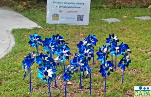 Pinwheel to prevent child abuse with CAPA