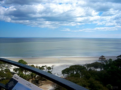 View from atop the Hunting Island Lighthouse