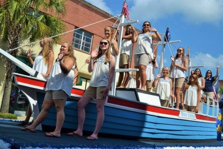 Water Festival parade, dragonboats and Commodore's Ball, new Commodore named
