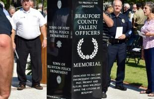 Fallen Officer's Memorial dedicated at City Hall