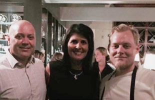 Governer Haley visited Beaufort to honor local chef Brian Waters of the Saltus River Grill.  Photo courtesy Gov. Nikki Haley