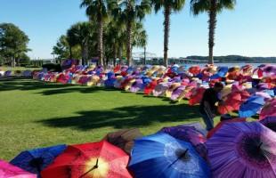 Life Blooms Eternally memorial umbrella celebration held at waterfront