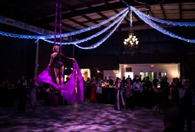 Aerial acrobats wowed the crowd at last year's Masquerade Ball.