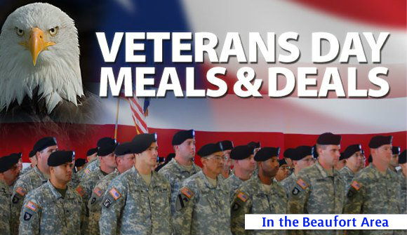 Restaurants offer free meals for vets on veterans day for Restaurants that offer military discount