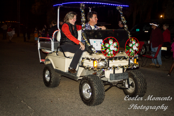 how to decorate a golf cart for christmas holidy
