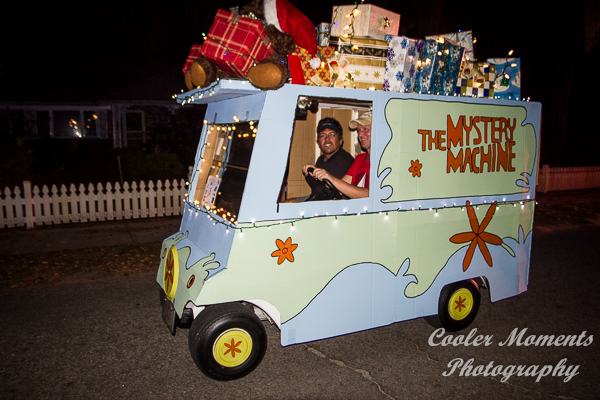 annual port royal christmas golf cart parade lights up paris avenue - Golf Cart Christmas Decorations