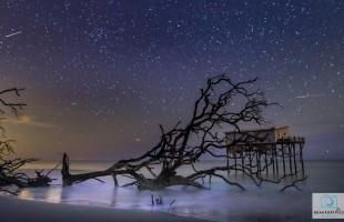 Sunday brings 2015's best meteor shower, the Geminids.  Photo courtesy Phil Heim.