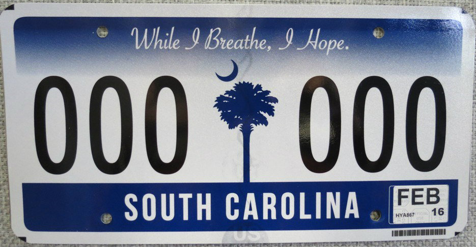 State replacing sc 39 sunrise 39 license plates with new for South carolina fishing license