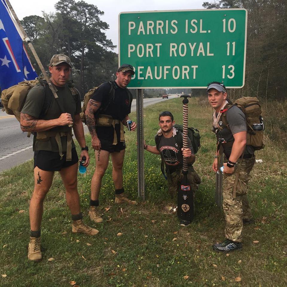 Marine Raider Memorial March comes through Beaufort