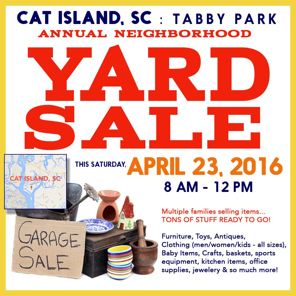 Huge Annual Neighborhood Yard Sale On Cat Island