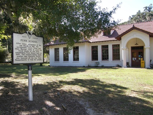 Penn Center was formed as Penn School in 1862, and it was the very first school for freed slaves in the U.S.