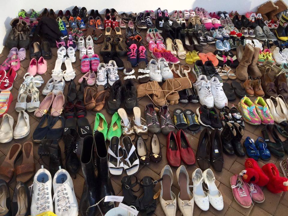 Shoes on display sending message in Port RoyalBeaufort SC Best Local u0026 Visitors Guide