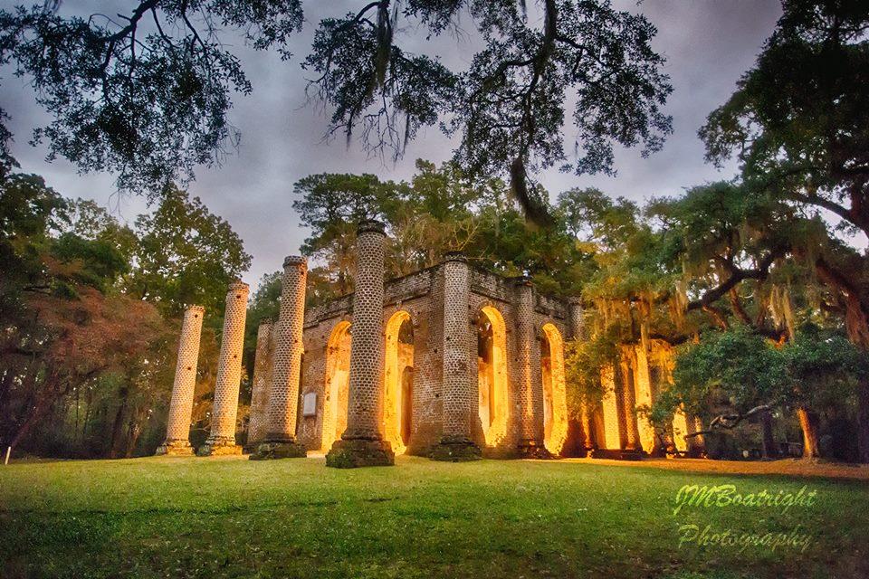 Old Sheldon Church ruins. Photo courtesy James Boatright