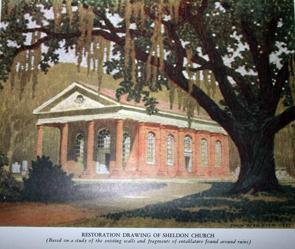 Furniture Stores Beaufort Sc Old painting sheds light on Sheldon Church's original look