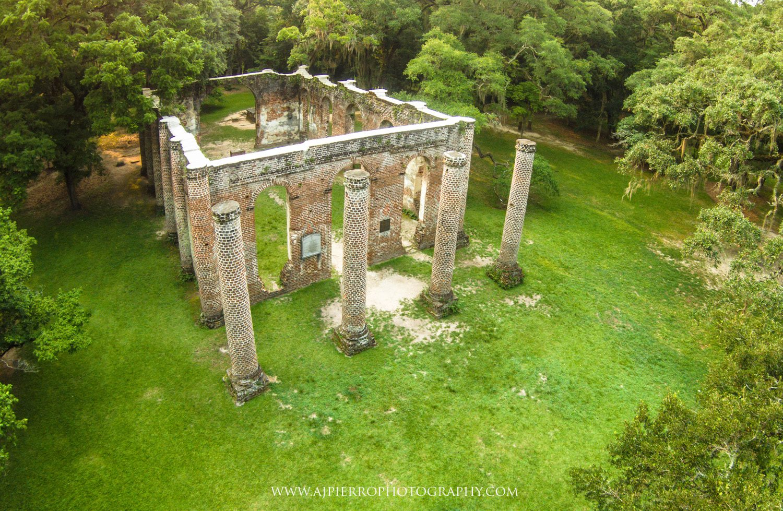 Old Sheldon Church ruins. Photo courtesy Tony Pierro