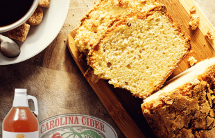 Peach Cider Pound Cake | Carolina Cider Co.