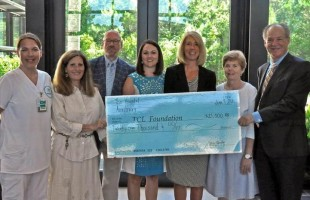 Hospital Auxiliary presents scholarship funds to TCL