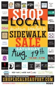 Side Walk Sale Poster 2017