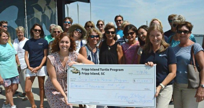 The Fripp Turtle Team donated a whopping $11,000 to South Carolina Aquarium's Sea Turtle Hospital