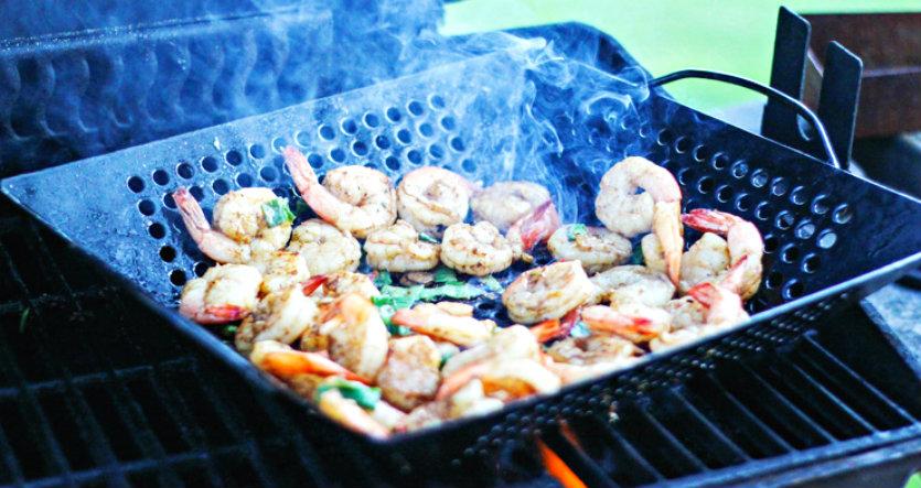 Nothing beats some grilled local shrimp.  Photo courtesy Steve Hilton