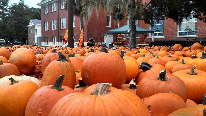 Pumpkins arrive at the Carteret Street United Methodist Church at the end of the month