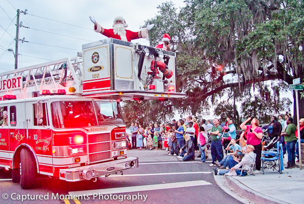 Santa invades downtown in style at the annual Beaufort Christmas Parade on December 3rd. Photo courtesy Eric R. Smith
