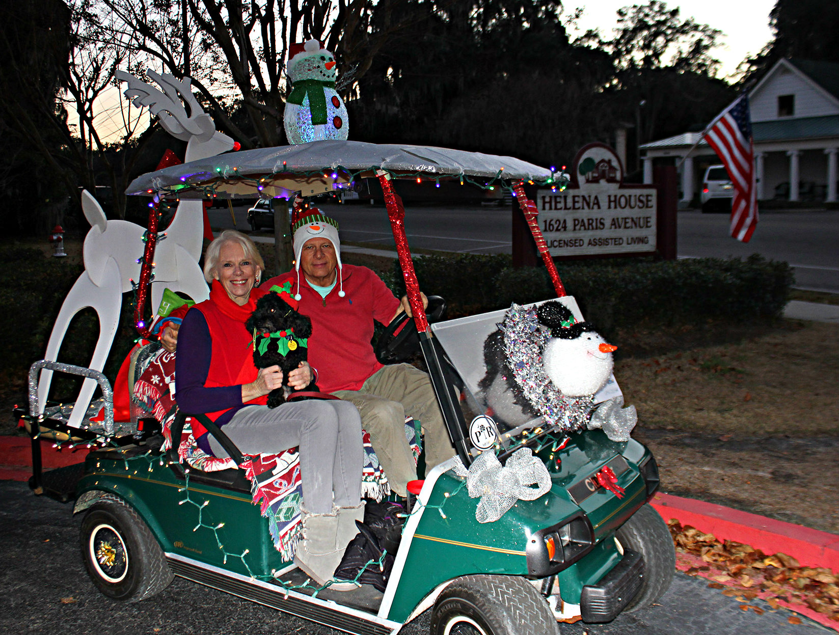 A parade of decorated golf carts hits the streets of Port Royal on December 10th. ESPB photo