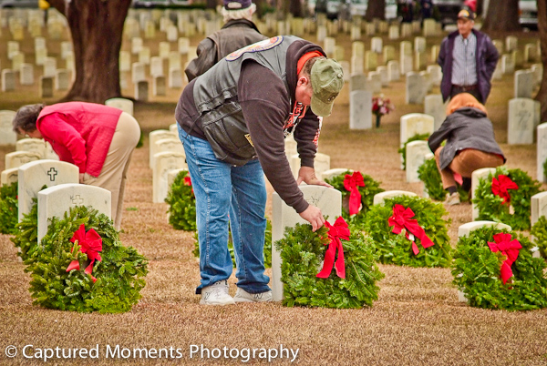 Wreaths Across America will lay thousands of wreaths at the Beaufort National Cemetery starting at 11am on December 17th. Photo courtesy Eric R. Smith