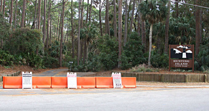 We don't expect parts of Hunting Island to be open until the coming spring