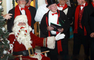Santa is making a few photo appearances in Beaufort this season. Here he is at the Night on the Town celebration last year.  ESPB photo