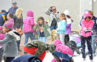 Snow filled the air in downtown Beaufort at the  annual Festival of Trees.