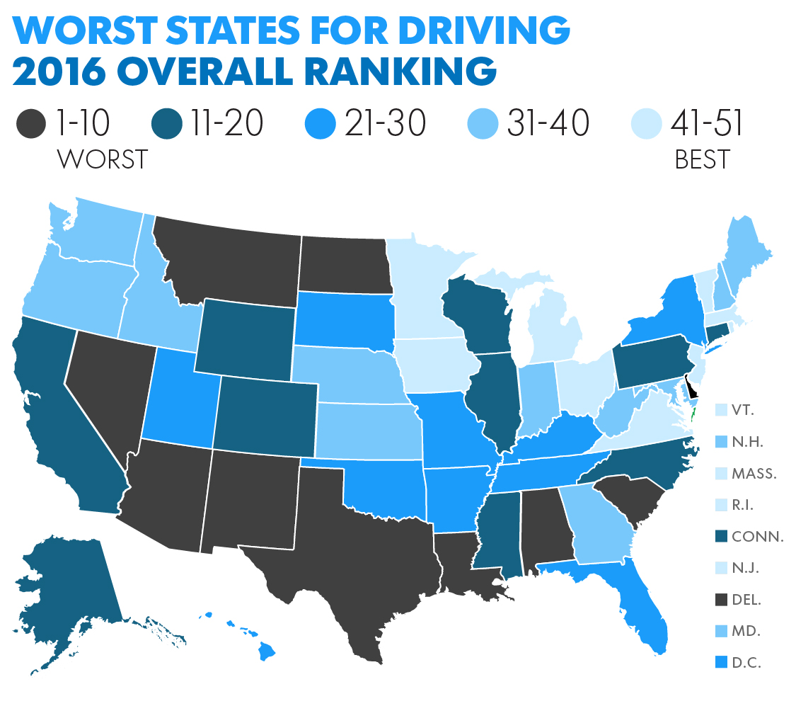 The Worst Out Of State Drivers In Your State: Study Says South Carolina Among Worst Drivers In The U.S