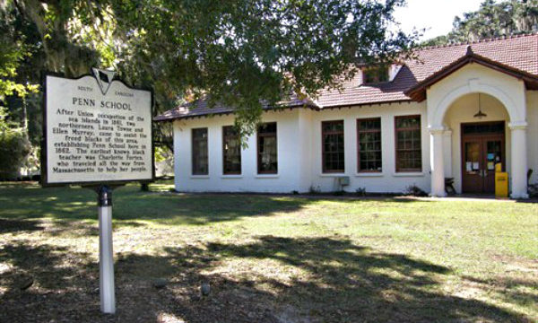 the Brick Baptist Church and Darrah Hall at Penn Center on St. Helena Island were 2 of the four Beaufort spots included in the National Monument to the Reconstruction Era.