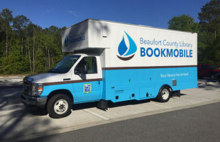 The new Beaufort County Library Bookmbile hits the streets on June 5th.  Photo courtesy Beaufort County Library.