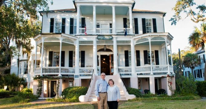 Connie and Ed Binot took over as the new innkeepers at the historic Cuthbert House last fall.  Photo by Charlotte Berkley