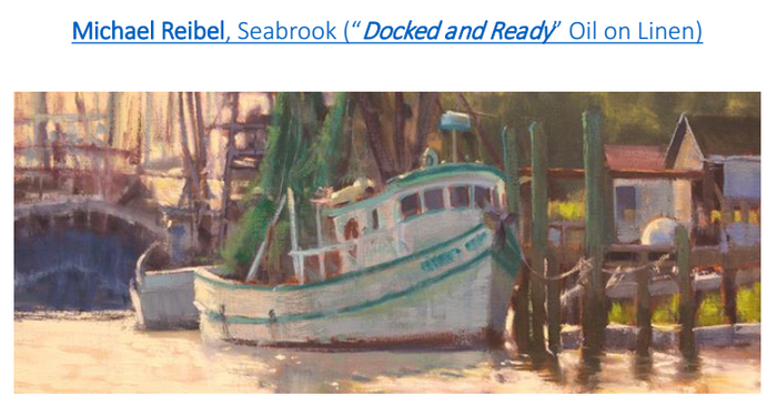 This beautiful painting by Michael Reibel will also appear on billboards throughout the Beaufort area.