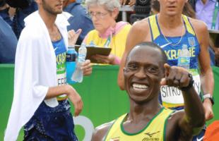 Pardon Ndhlovu at the 2016 Summer Olympics in Rio.