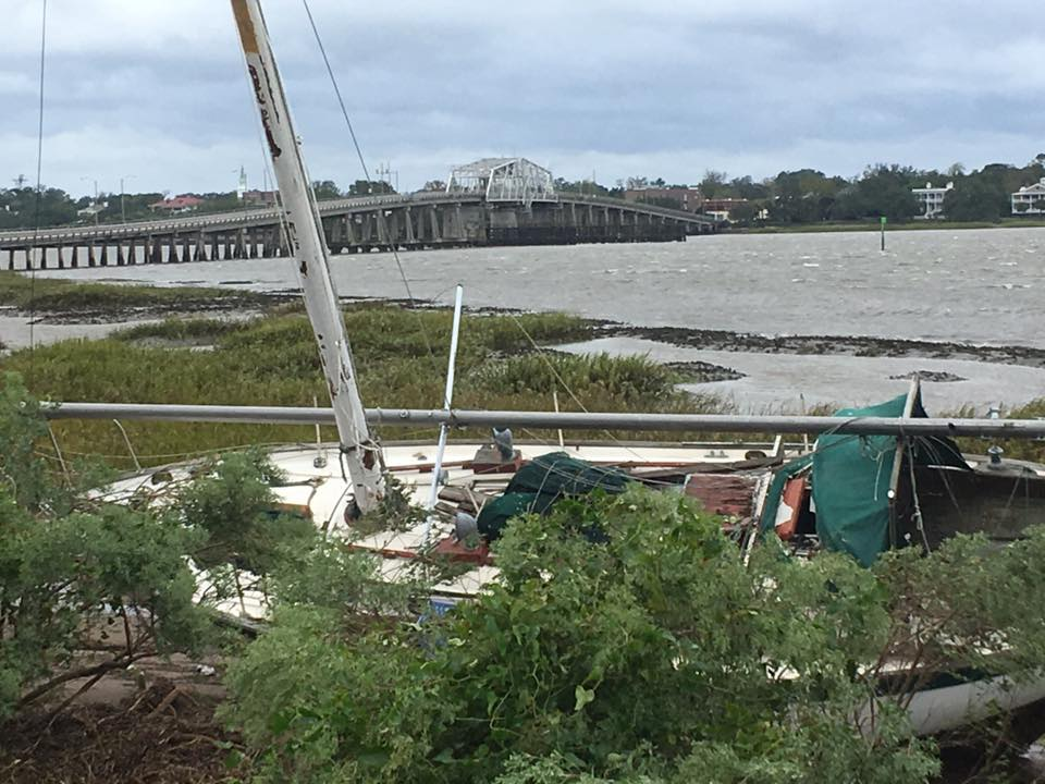 Boats Run Aground By Matthew Being Removed From Factory
