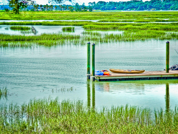Lowcountry residents boast high well-being according to recent Gallup poll. Photo: Dock at Pinckney Retreat in Beaufort