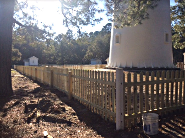 One of the expected volunteer jobs will be to paint the new lighthouse fence. Photo FOHI